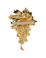 JCB Collection Brooch or Necklace - Golden Grapes