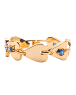 JCB Bracelet - Infinity Heart Link (Blue)