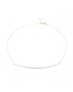 Adina Reyter Pavé Curve Collar Necklace