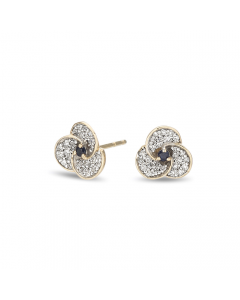 Adina Reyter Tiny Diamond and Sapphire Petals Post Earrings