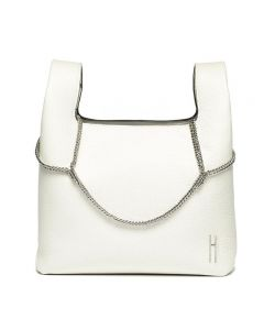 Hayward Leather New Chain Bag - White Pebble
