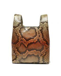 Hayward Python Mini Chain Bag - Dusky Orange