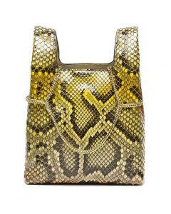 Hayward Python Mini Chain Bag - Yellow