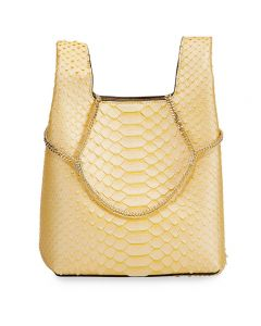 Hayward Python Mini Chain Bag - Yellow