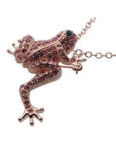JCB Necklace - La Grenouille Rose (Frog)