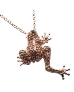 JCB Collection Brooch or Necklace - La Grenouille Pêche (Frog)