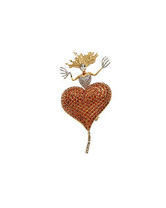 JCB Brooch/Necklace - Ultimate Heart of Pinot