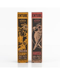 Entube Indian Curry Chili Paste and Harissa Chili Paste