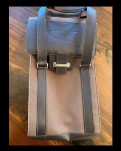 Leather Buck 2 Bottle Bag
