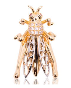 JCB Collection Brooch or Necklace - La Sauterelle (Grasshopper)